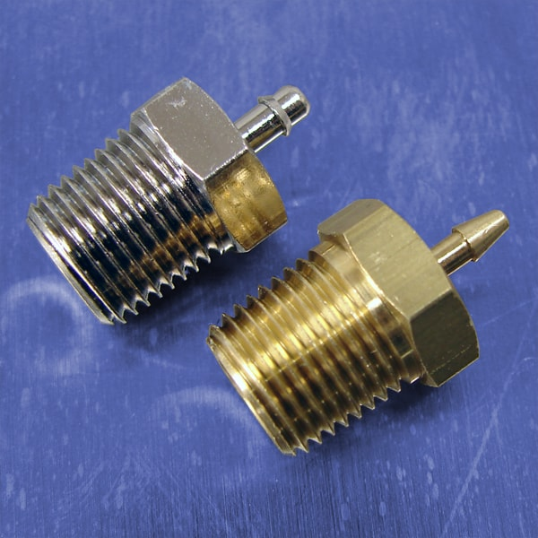 1/16 Tube Id Barb Straight Connectors (1/8 NPT)