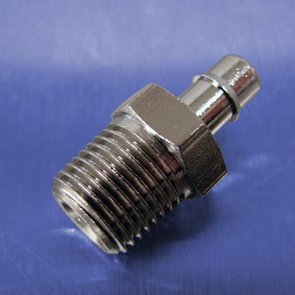 "316 Stainless Steel Straight Fitting Coupler 1//4/"" ID Hose Barb to 1//8/"" NPT"