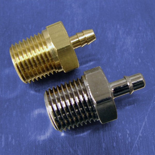 5/64 Tube Id Barb Straight Connectors (1/8 NPT)