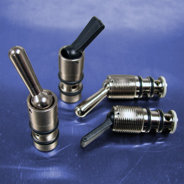Detented toggle way cartridge valves pneumadyne