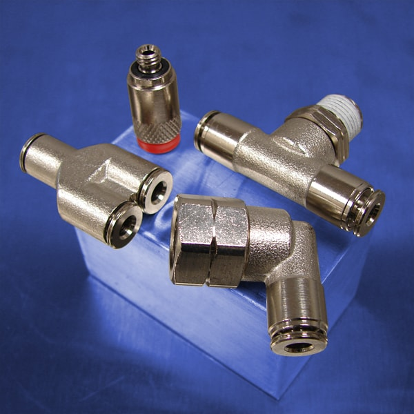 Metal Push to Connect Fittings | Brass Pneumatic Fittings | Pneumadyne