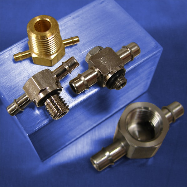 Thread to Barb Tees for Pneumatic Systems