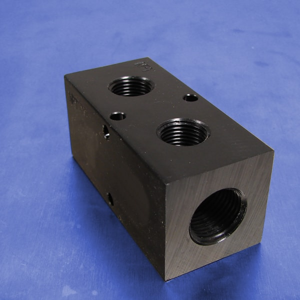 Station npt f input aluminum manifold pneumadyne