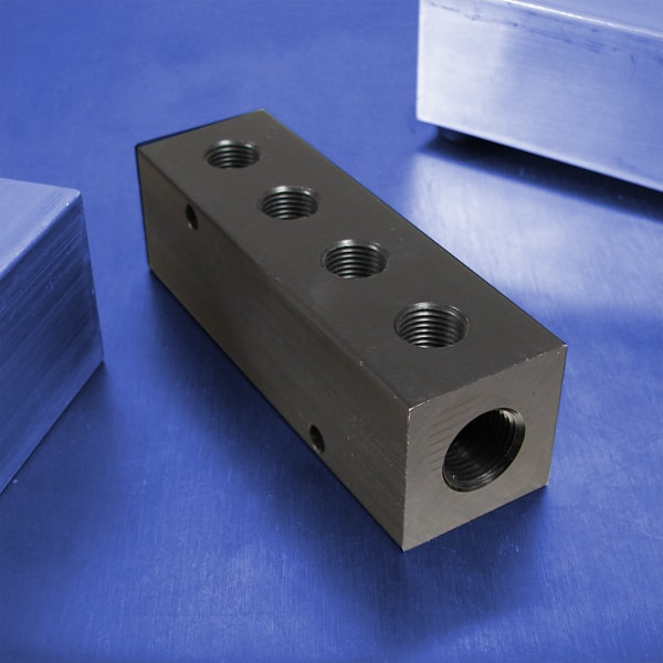 4-Station Aluminum Pneumatic Manifolds