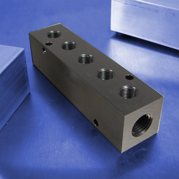 5-Station Aluminum Pneumatic Manifolds