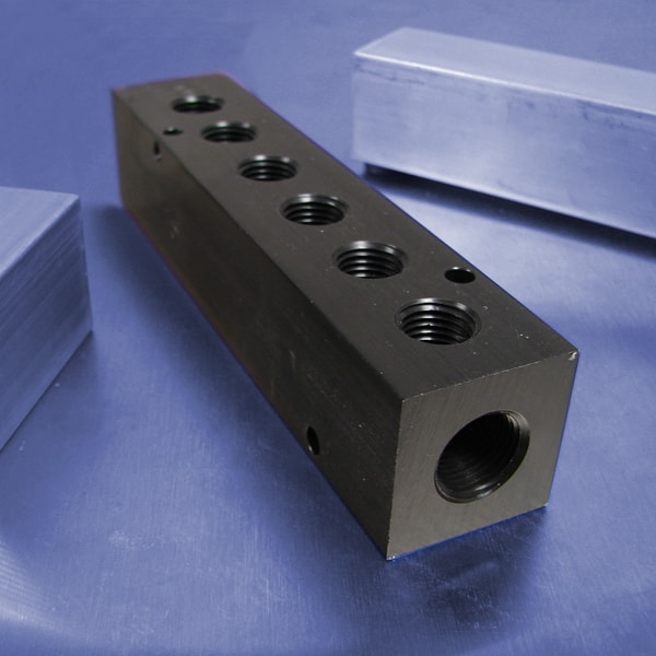 6-Station Aluminum Pneumatic Manifolds