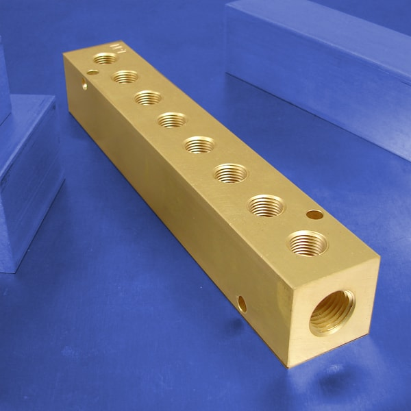 8-Station Brass Pneumatic Manifolds | Brass 8-Station Manifolds