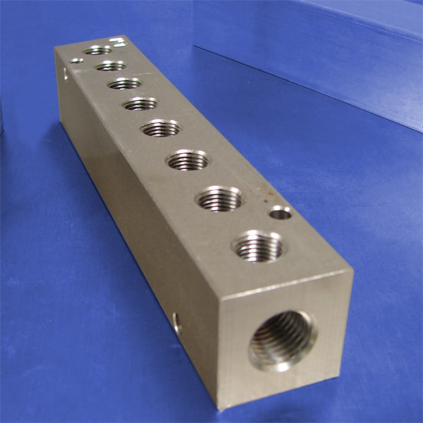 8-Station Stainless Steel Pneumatic Manifolds