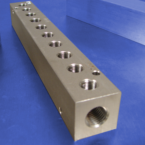 10-Station Stainless Steel Pneumatic Manifolds