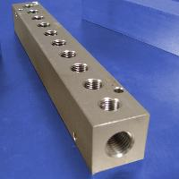 10-Station, 3/8 NPT (F) Input, Stainless Steel Manifold