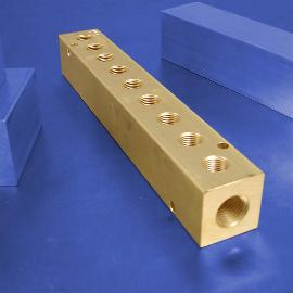 9-Station Brass Pneumatic Manifolds | Brass 9-Station Manifolds