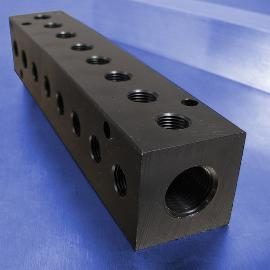 8-Station 90-Degree Output Port Pneumatic Manifolds