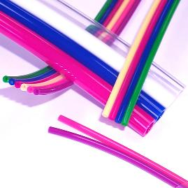 1/8 OD x 1/16 ID | Multi-Colored Ribbon Polyurethane Tubing | Pneumadyne