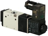 Single Solenoid Valve, 3/2 Way, 1/8 NPT, 24VAC