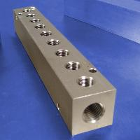 9-Station, 1/4 NPT (F) Input, Stainless Steel Manifold