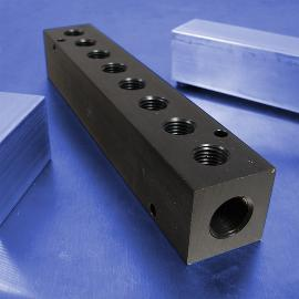 8-Station Aluminum Pneumatic Manifolds