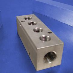 4-Station Stainless Steel Pneumatic Manifolds