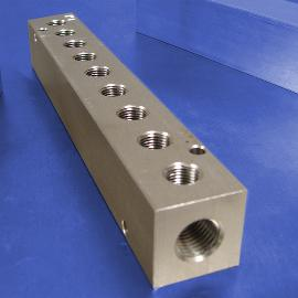 9-Station Stainless Steel Pneumatic Manifolds