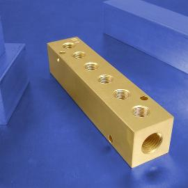 6-Station Brass Pneumatic Manifolds | Brass 6-Station Manifolds