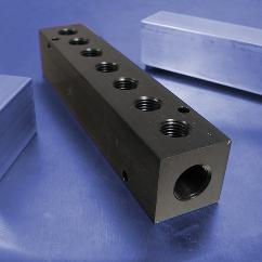 7-Station Aluminum Pneumatic Manifolds