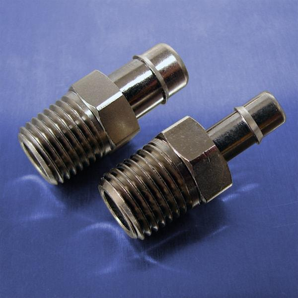 1/4 NPT Threads (Stainless Steel Straight Connectors)