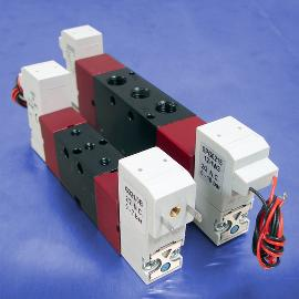 110-Volt AC Double Solenoid Operated 4-Way 5-Port 2-Position Valves