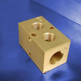 2-Station Brass Pneumatic Manifolds
