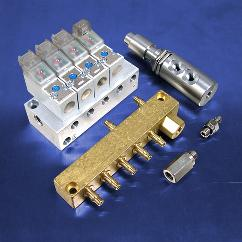 Pneumatic solenoid valves and fittings