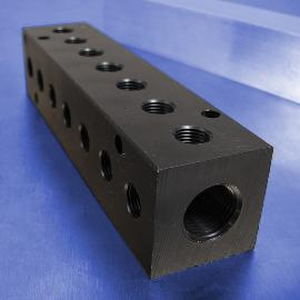 7-Station 90-Degree Output Port Pneumatic Manifolds