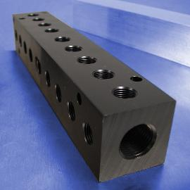 9-Station 90-Degree Output Port Pneumatic Manifolds