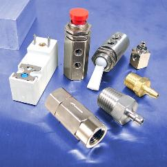 Solenoid operated valves and barbed fittings