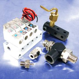 Miniature pneumatic fittings and valves